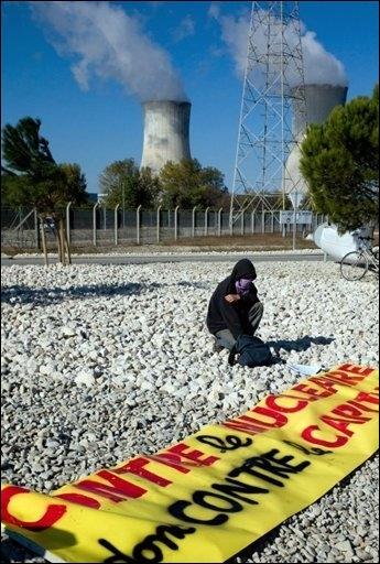 Protestas en la Central Nuclear de Tricastin