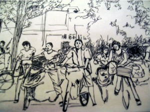 bikes_sketch_china_street