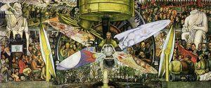"""Mural """"Hombre en una Encrucijada"""" de Diego Rivera"""