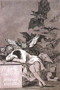 Francisco de Goya - El Sueño de la Razón produce Monstruos